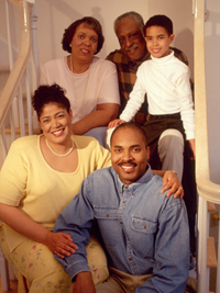 African-American family, three generations