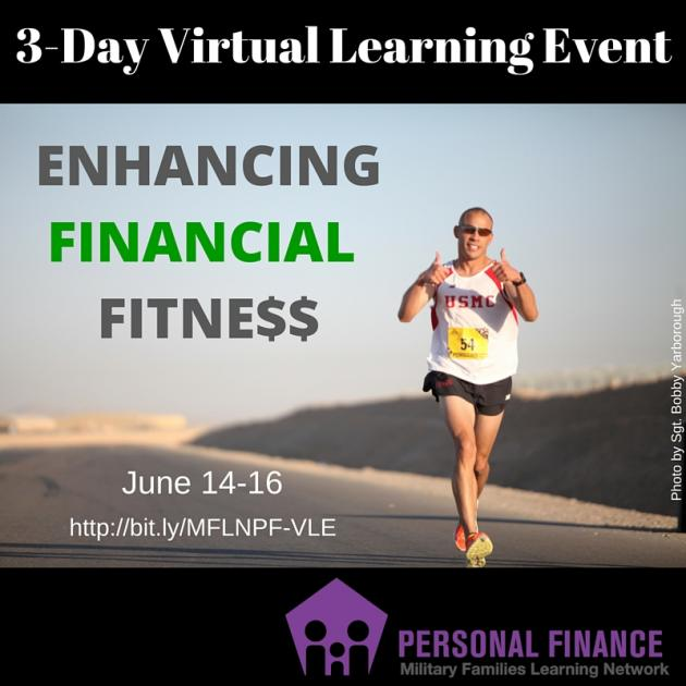 Graphic of 2016 Personal Finance VLE details with photo of jogger