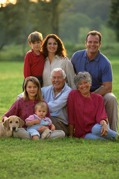 Image of a family including grandparents