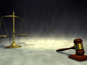 Image of a gavel, signifying order, and a scale, signifying justice
