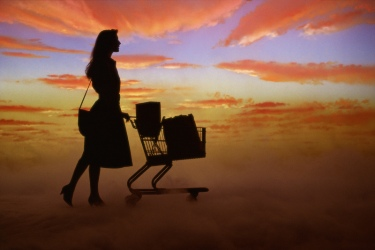 sunset shopping cart